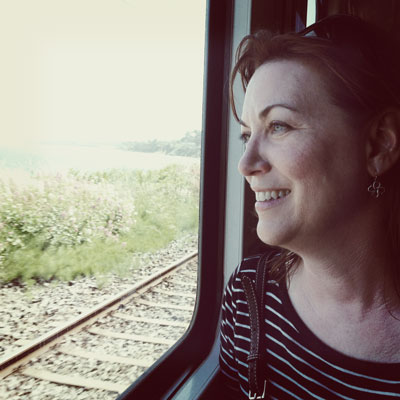 kathy-on-train